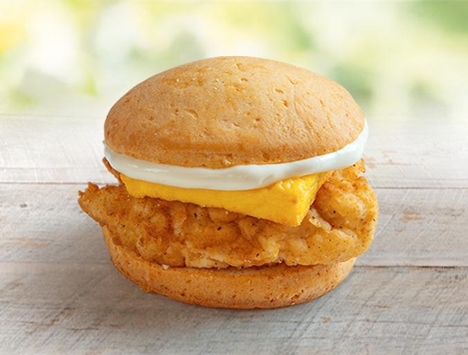 Өндөгтэй жигнэмэгэн бургер